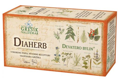 Grešík Devatero bylin Diaherb čaj 20x1,5 g cena od 35 Kč