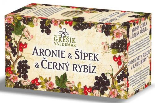Grešík Aronie & Šípek & Černý rybíz 20x2 g cena od 43 Kč