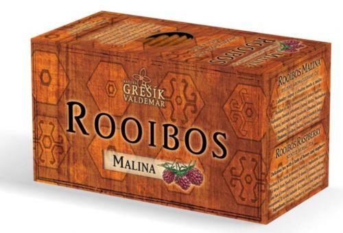 Grešík Rooibos Malina 20 x 1,5 g cena od 56 Kč