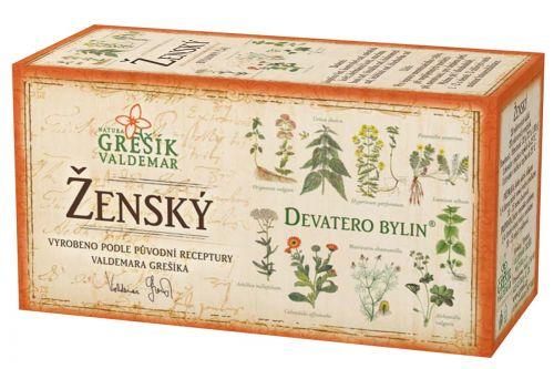 Grešík Ženský čaj Devatero bylin 20 sáčků cena od 35 Kč