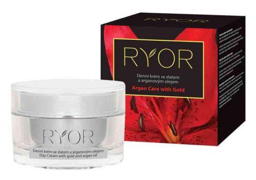 Ryor Denní krém se zlatem a arganovým olejem 50 ml