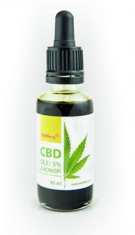 Wolfberry Konopný olej 5% CBD 30 ml cena od 2309 Kč