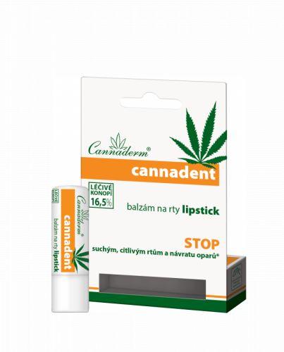 Cannaderm Cannadent balzám na rty lipstick 4,5 g