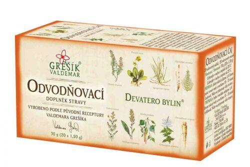Grešík Odvodňovací čaj Devatero bylin 20 sáčků cena od 36 Kč