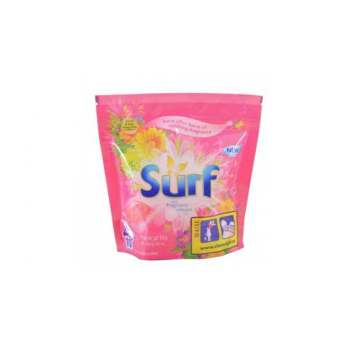 Unilever Surf Tropical Lily & Ylang Ylang gelové kapsle na praní 10 dávek