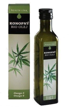 Health Link Bio Konopný olej 250 ml cena od 162 Kč