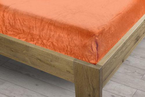 Homeville oranžové mikroplyšové prostěradlo