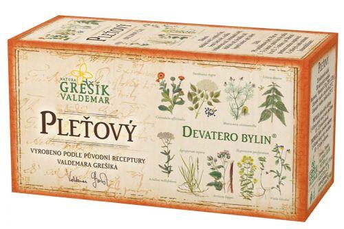 Grešík Pleťový čaj Devatero bylin 20 sáčků cena od 35 Kč