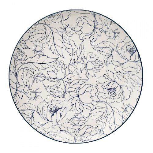 Bloomingville Keramický talíř Fleur
