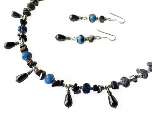 Anastázia Matoušková Set náhrdelník a náušnice s hematitem