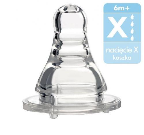 BabyOno Antikoliková silikonová savička na kaši