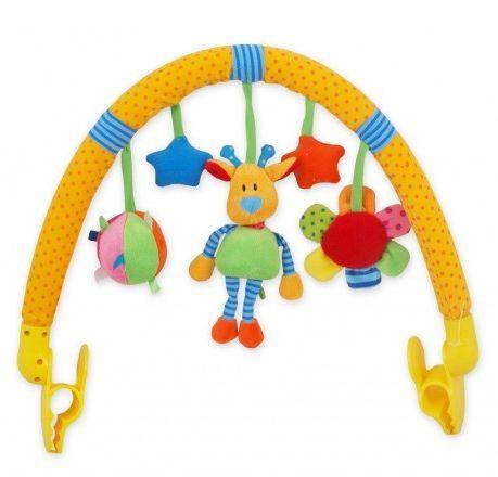 BABY MIX Žirafka Oblouk s hračkami ke kočárku