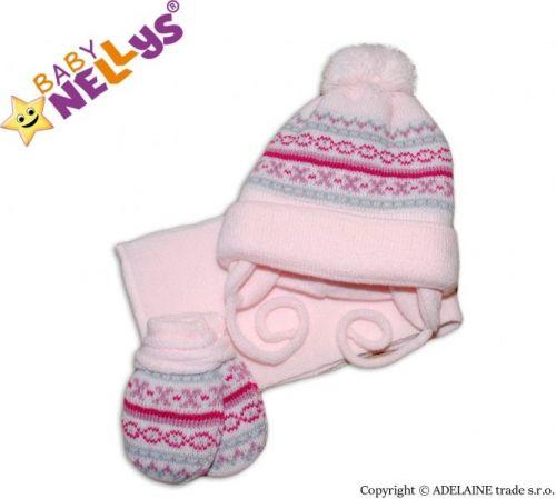 Baby Nellys čepička, šál a rukavičky
