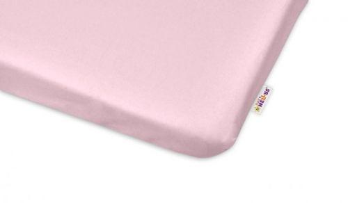 Baby Nellys světle růžové bavlněné prostěradlo