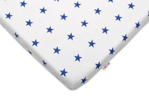 Baby Nellys Hvězdičky bílé bavlněné prostěradlo