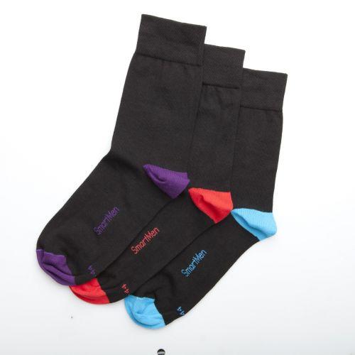 SmartMen Česká republika Pánské společenské černé ponožky