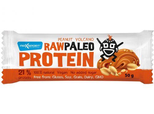 Maxsport Tyčinka Raw paleo protein Peanut Volcano 50 g