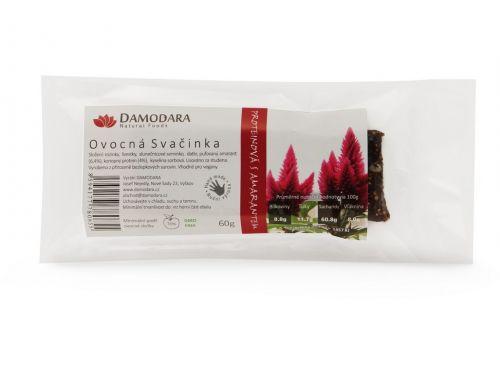 Damodara Tyčinka Ovocná svačinka proteinová s amarantem 60 g