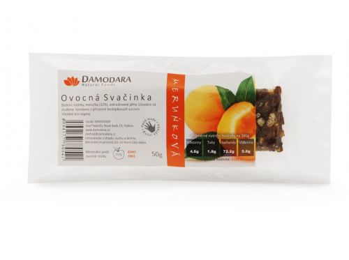 Damodara Tyčinka Ovocná svačinka meruňková 50 g