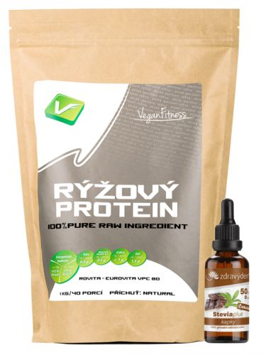 Vegan Fitness Rýžový protein 1 kg