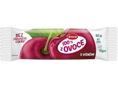 Emco Tyčinka 100% ovoce s višněmi 30 g