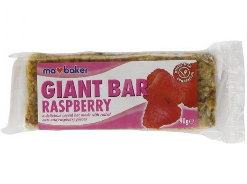 Ma Baker Tyčinka ovesná Giant bar Obří Malinová 90 g