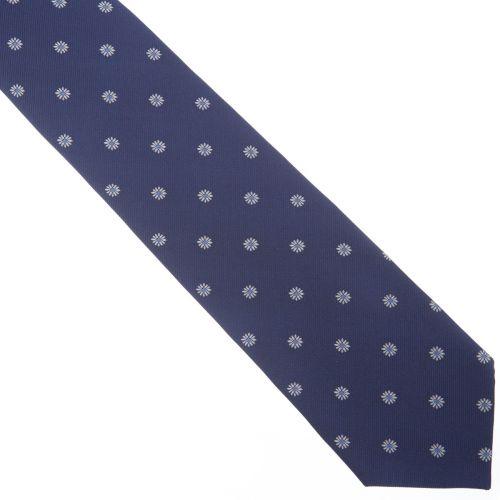 SmartMen Česká republika Modrá kravata se sedmikráskami