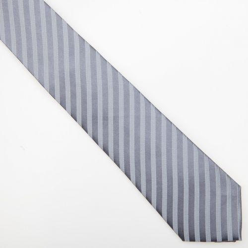 SmartMen Česká republika Svatební kravata z hedvábí šedá se stříbrným proužkem