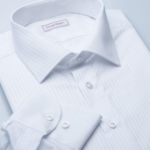 SmartMen Česká republika Elegance bílá Slim proužek košile