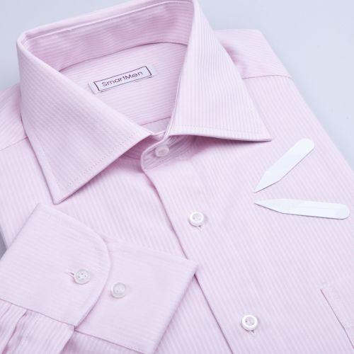SmartMen Česká republika Business růžový proužek košile