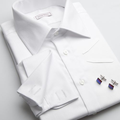SmartMen Česká republika bílá košile na manžetové knoflíčky cena od ... 78450e7b99