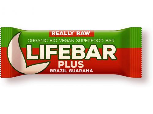 Lifefood Bio tyčinka Lifebar Plus Guarana a Brazil 47 g