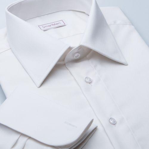 Produkt SmartMen Česká republika Svatební smetanová košile na manžetové  knoflíčky e4ed9e44c1