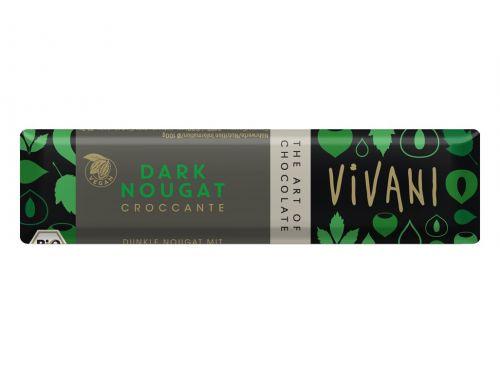 VIVANI Bio tyčinka Čokoládová nugátová tmavá 35 g