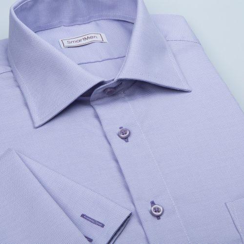 SmartMen Česká republika fialová košile na manžetové knoflíčky