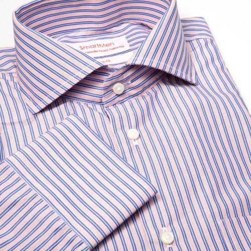 SmartMen Česká republika košile modrý a růžový proužek cena od 499 ... b6ef75c89a
