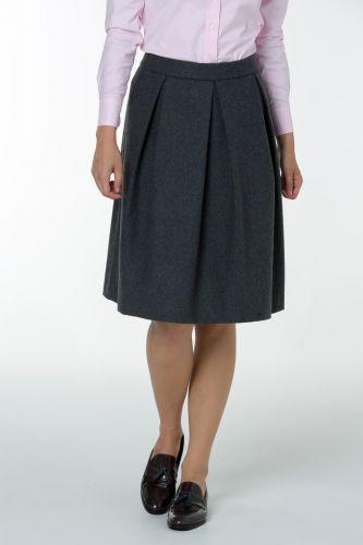 GANT O2. WOOL PLEATED sukně