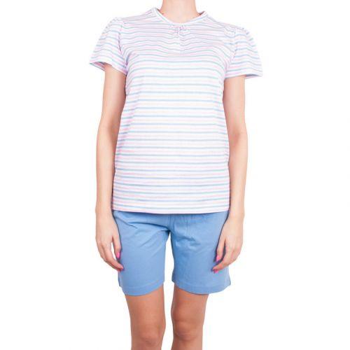 Molvy modro růžové proužky pyžamo