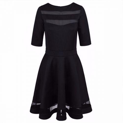 Lucky černé koktejlové šaty