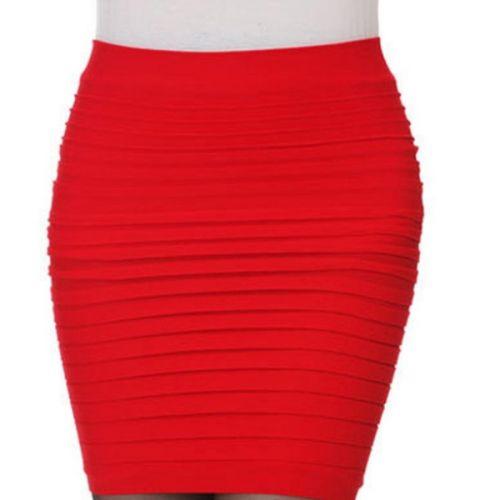 DX vrstvená červená sukně