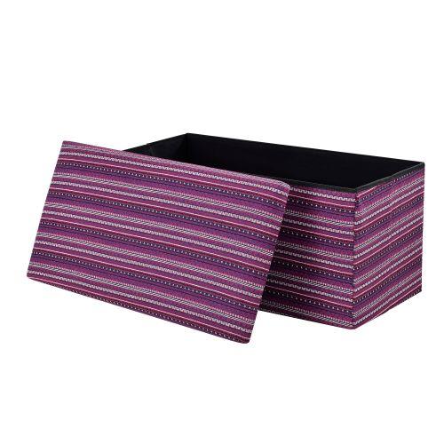 [en.casa]® Skládací taburet 76 x 38 x 38 cm
