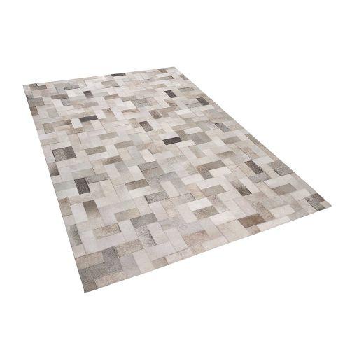 Beliani KORFEZ Šedo-béžový koberec