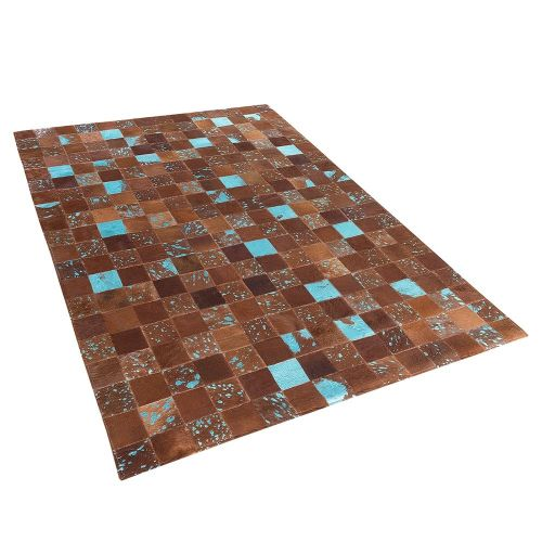 Beliani ALIAGA Hnědý koberec