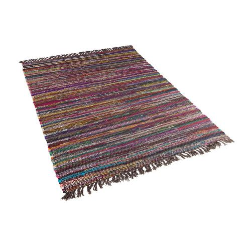 Beliani DANCA tmavý barevný koberec