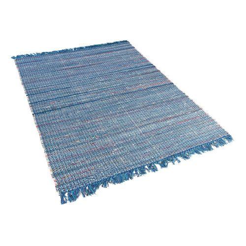 Beliani BESNI Modrý koberec