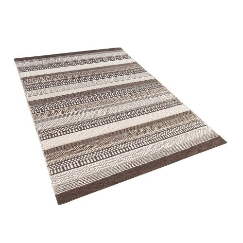 Beliani POLATLI Hnědý koberec