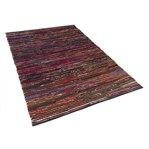 Beliani BARTIN Různobarevný koberec v tmavém odstínu