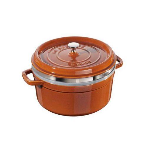 STAUB Cocotte hrnec kulatý s napařovací vložkou 26 cm