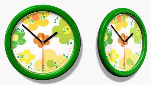 Mint Kitten Dětské hodiny č. 35 Žluté květy
