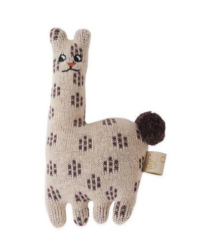 OYOY Dětské pletené chrastítko Baby Lama